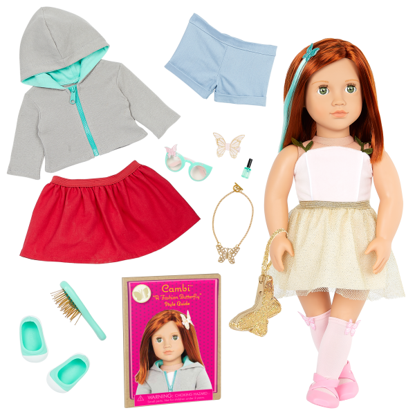 Our Generation Fashion Starter Kit & 18-inch Doll Cambi