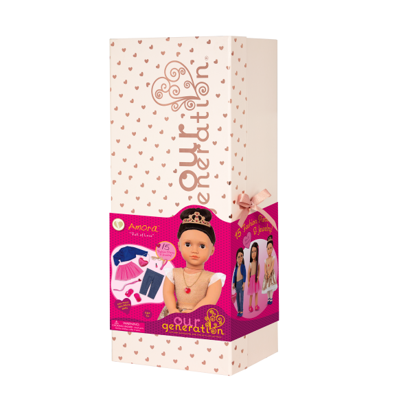 Our Generation Fashion Starter Set 18-inch Doll Amora Giftbox Packaging