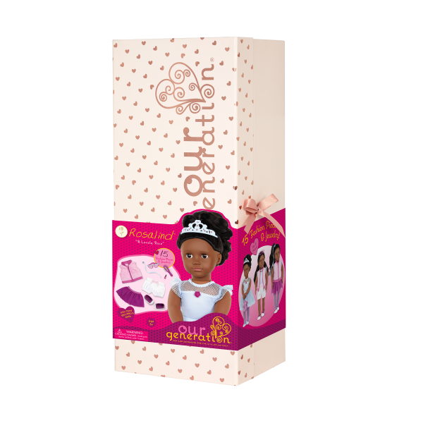 Our Generation Fashion Starter Set 18-inch Doll Rosalind Giftbox Packaging