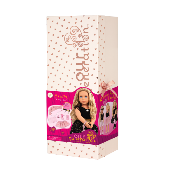 Our Generation Fashion Starter Set 18-inch Doll Stella Giftbox Packaging