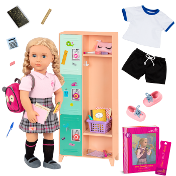 Our Generation Hally & Classroom Cool Locker School Bundle