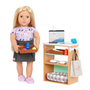 Our Generation Pet Store Set with 18-inch Doll Noemie