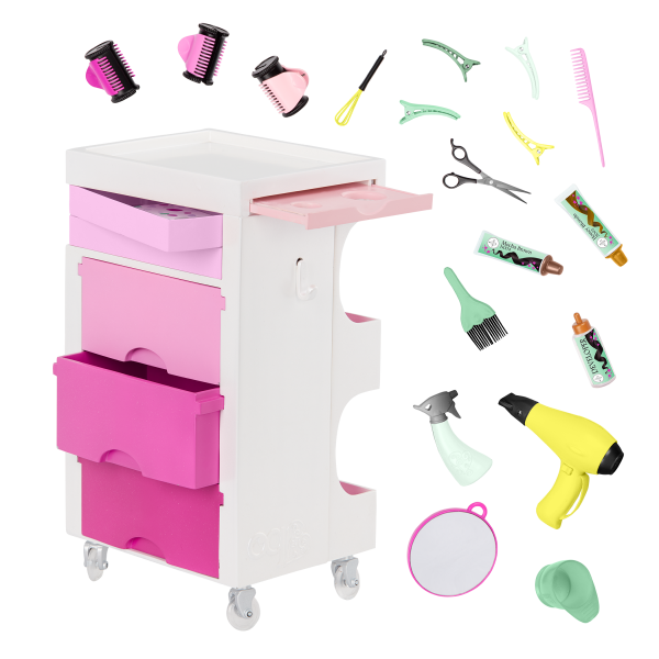 Our Generation Salon Cart Playset for 18-inch Dolls