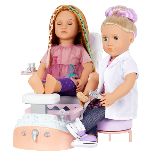 Our Generation Yay Spa Day Chair Music & Water Sounds for 18-inch Dolls
