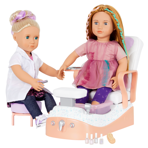 Our Generation Yay Spa Day Chair Salon Accessories for 18-inch Dolls