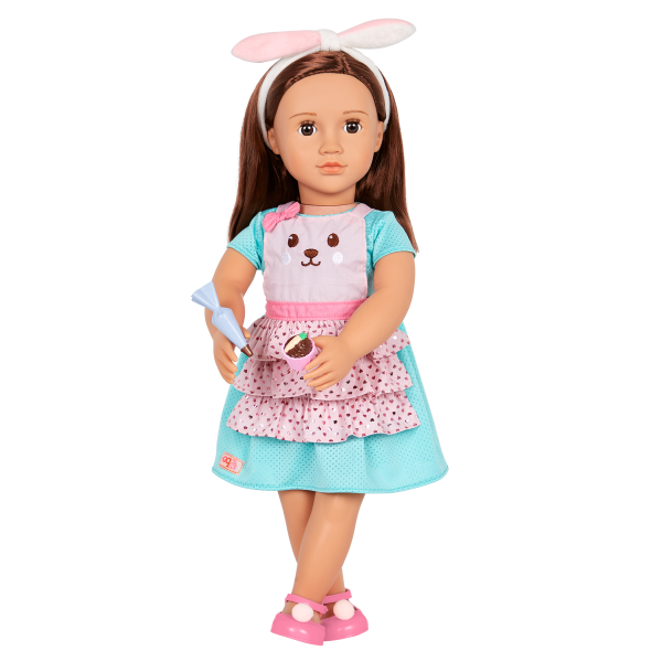 Our Generation Rabbits & Carrots Baking Outfit Bunny Apron for 18-inch Dolls