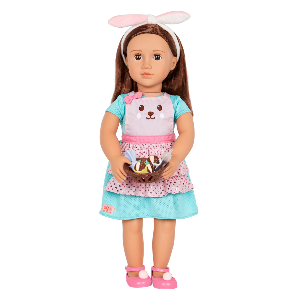 Our Generation Rabbits & Carrots Baking Outfit & Cupcakes for 18-inch Dolls