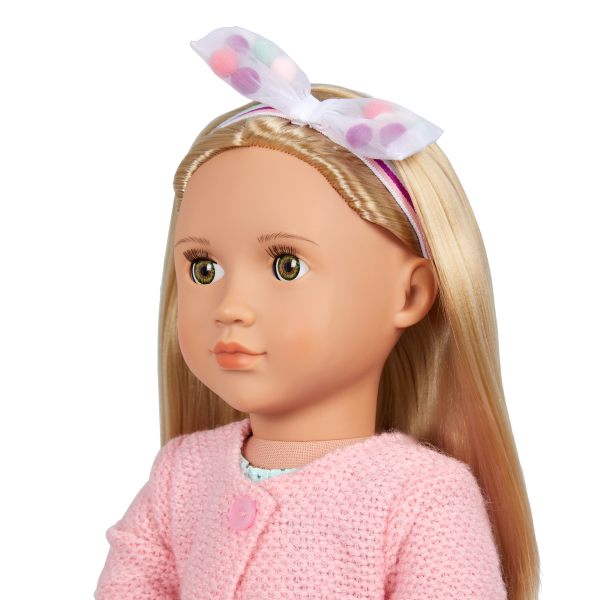 Our Generation Pretty Pom Poms Hair Bow Headband 18-inch Doll Accessories