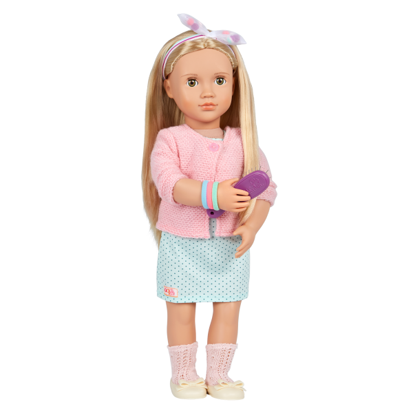 Our Generation Pretty Pom Poms Hair Bow Styling Accessories for 18-inch Dolls