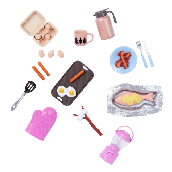 Our Generation Campfire Cookout Play Food Set for 18-inch Dolls