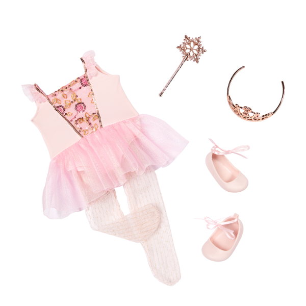 Our Generation Sugar Plum Fairy Ballet Outfit 18-inch Doll Delmy
