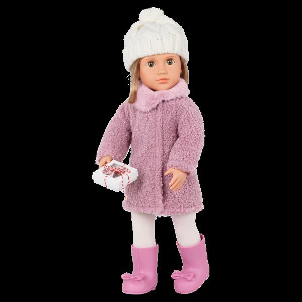 Our Generation Wonderfully Warm Sherpa Coat & Treat Box for 18-inch Dolls
