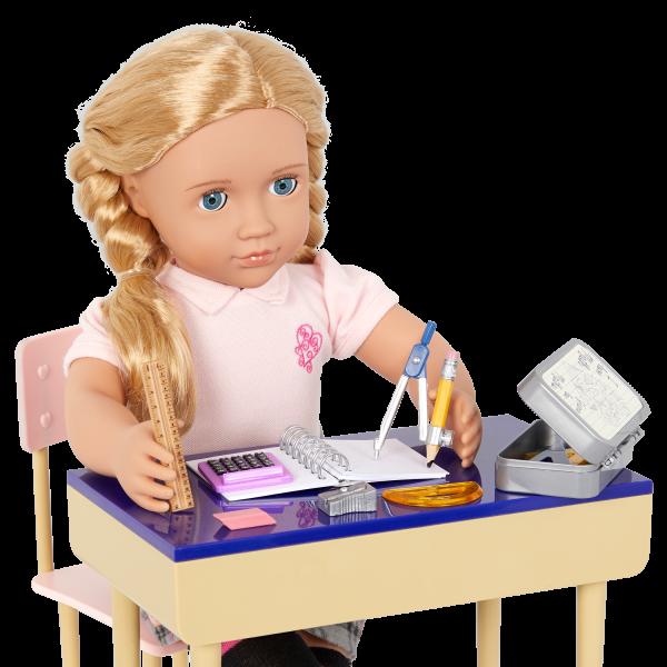 Our Generation Math Whiz School Geometry Set 18-inch Doll Hally