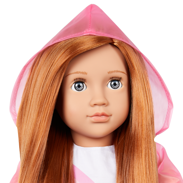 Our Generation Rainbow Sky Hooded Raincoat Outfit for 18-inch Dolls