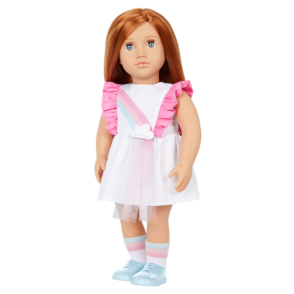 Our Generation Rainbow Sky Dress Outfit for 18-inch Dolls