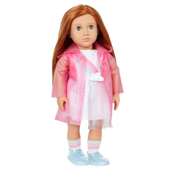 Our Generation Rainbow Sky Pink Raincoat 18-inch Doll Clothes