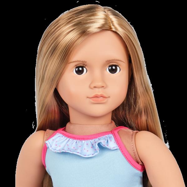Our Generation 18-inch Beach Doll Ivana Blonde Hair & Brown Eyes