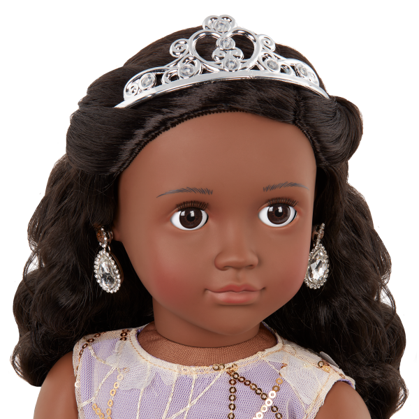 Our Generation 18-inch Special Event Doll Ambreal Tiara & Earrings Accessories