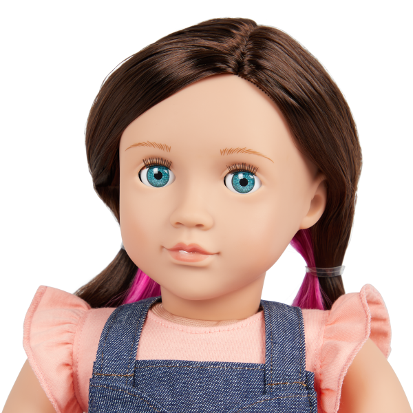 Our Generation 18-inch Babysitter Doll Katherine Blue Eyes Brown Hair