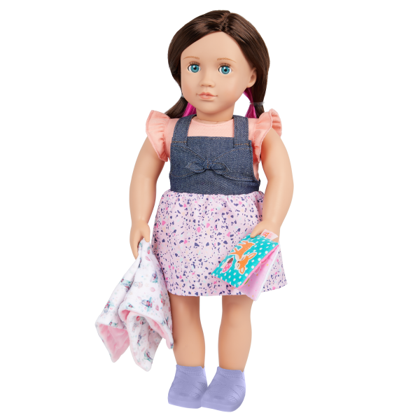 Our Generation 18-inch Babysitter Doll Katherine Blanket & Activity Book Accessories