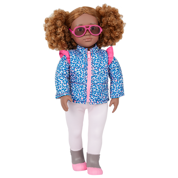 Our Generation Lovely Leopard Outfit Sunglasses 18-inch Doll Ashanti