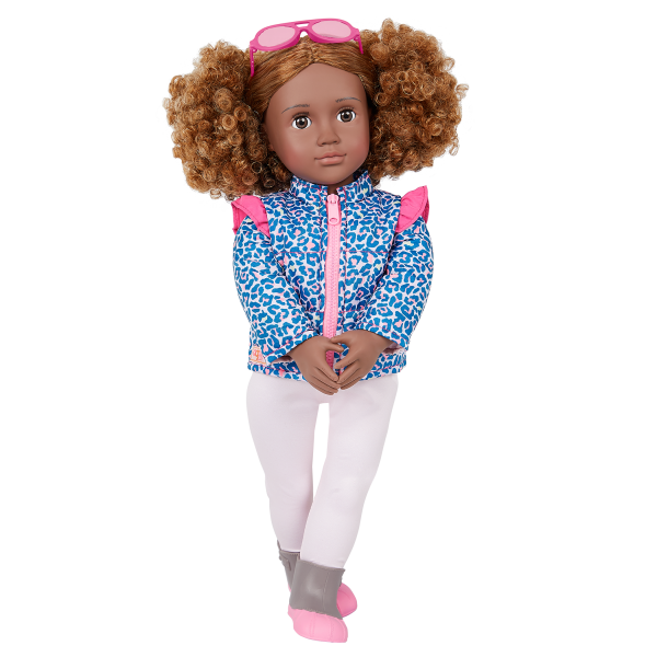 Our Generation Lovely Leopard Outdoor Outfit 18-inch Doll Ashanti