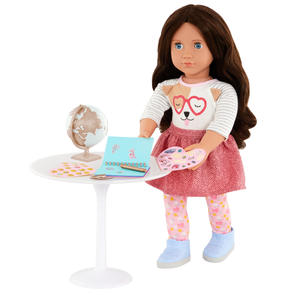 Our Generation Around the World Globe & Travel Journal Set for 18-inch Dolls