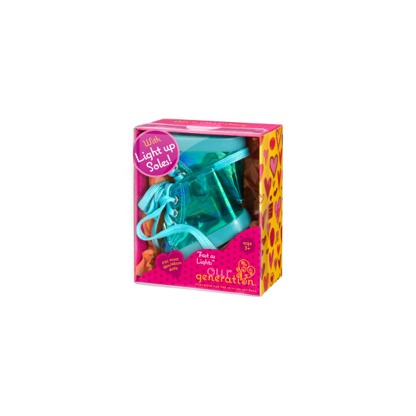 Our Generation Fast As Lights Light-Up Shoes 18-inch Dolls Packaging