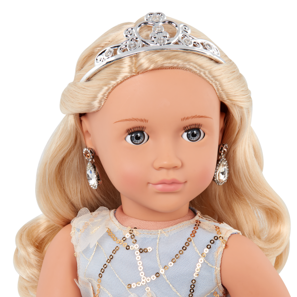 Our Generation 18-inch Special Event Doll Ellory Tiara & Earrings Accessories