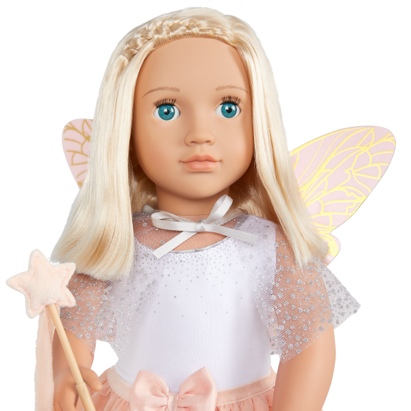 Our Generation Tooth Fairy Outfit Wings & Star Wand for 18-inch Dolls