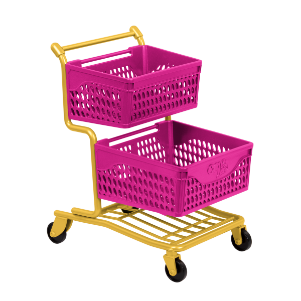 Our Generation Grocery Day Shopping Cart 18-inch Doll Accessories