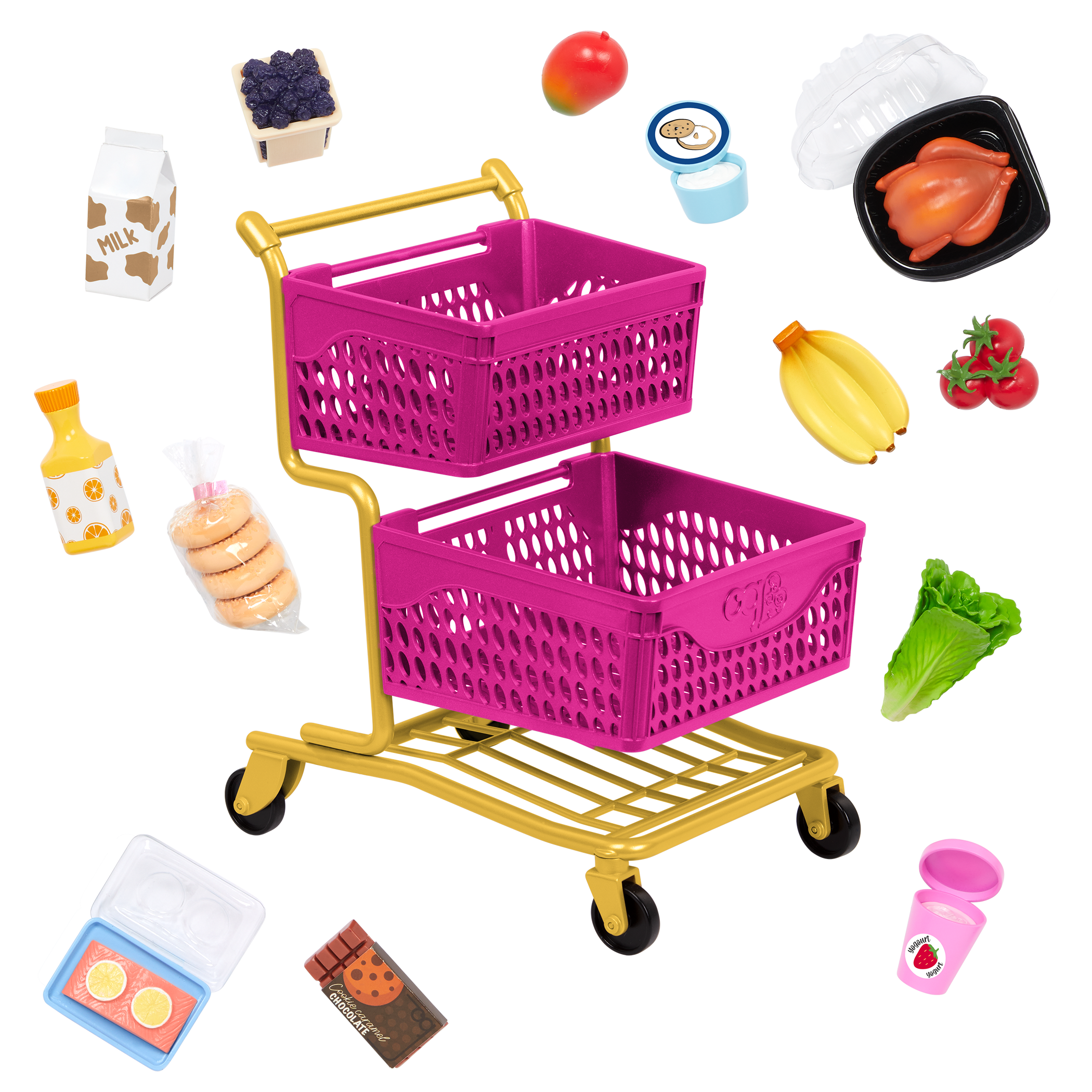 Our Generation Grocery Day Shopping Cart Set for 18-inch Dolls