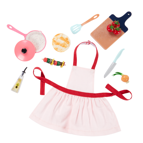 Our Generation Posable 18-inch Doll Macy Cooking Accessories