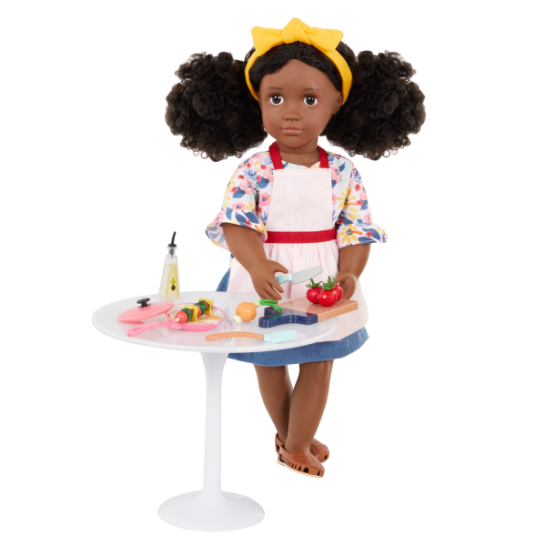 Our Generation Posable 18-inch Doll Macy Table for Two Furniture Set