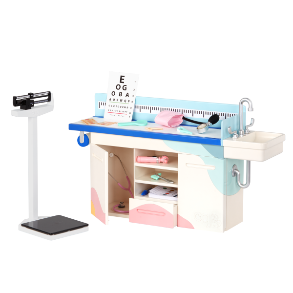 Our Generation Doctor Days Exam Table & Scale for 18-inch Dolls
