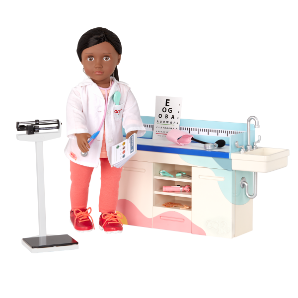 Our Generation Doctor Days Exam Table Playset 18-inch Doll Meagann
