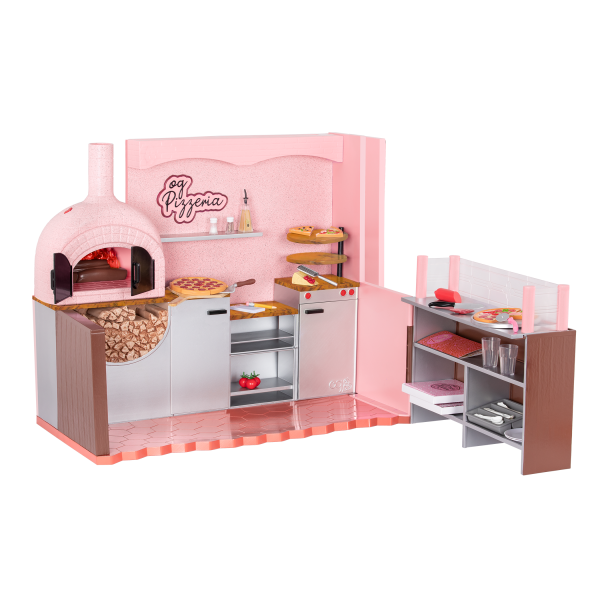 Our Generation Easy Cheesy Pizzeria Pizza Maker Accessories for 18-inch Dolls