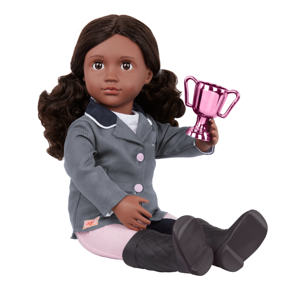 Our Generation Posable 18-inch Equestrian Doll Rashida Bendable Arms & Legs