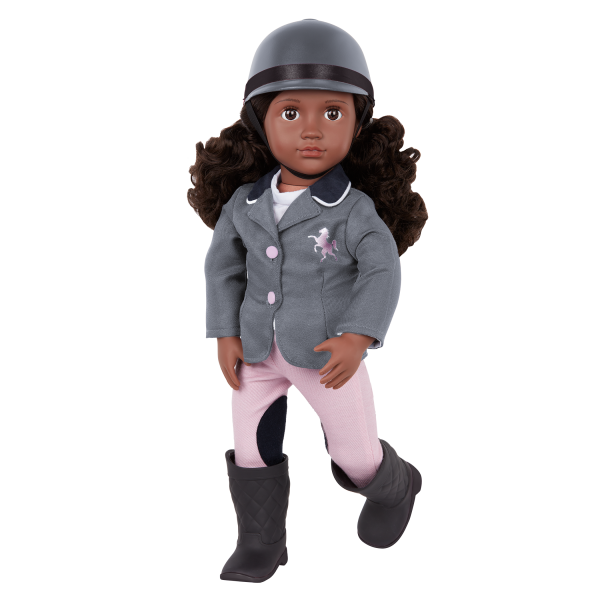 Our Generation Posable 18-inch Equestrian Doll Rashida Riding Helmet