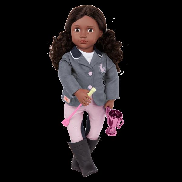 Our Generation Posable 18-inch Equestrian Doll Rashida Brown Eyes & Hair