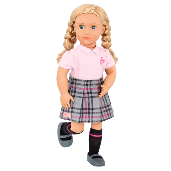 Our Generation Posable 18-inch School Doll Hally
