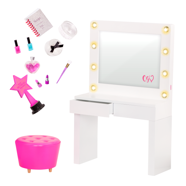 Our Generation Glitz & Glamour Dressing Room Playset for 18-inch Dolls