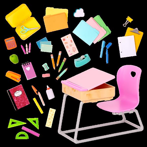 Our Generation Flying Colors School Desk Set 18-inch Dolls