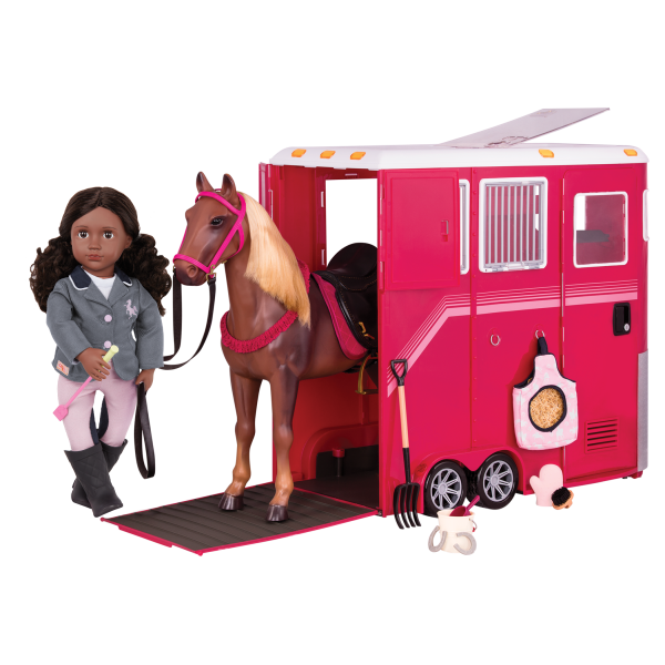 Our Generation Mane Attraction Horse Trailer 18-inch Doll Accessories
