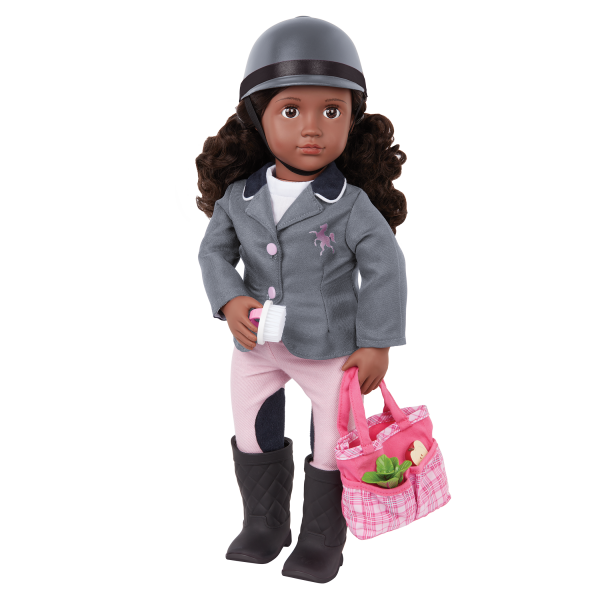 Our Generation 18-inch Equestrian Doll Rashida Riding Helmet & Tote Bag
