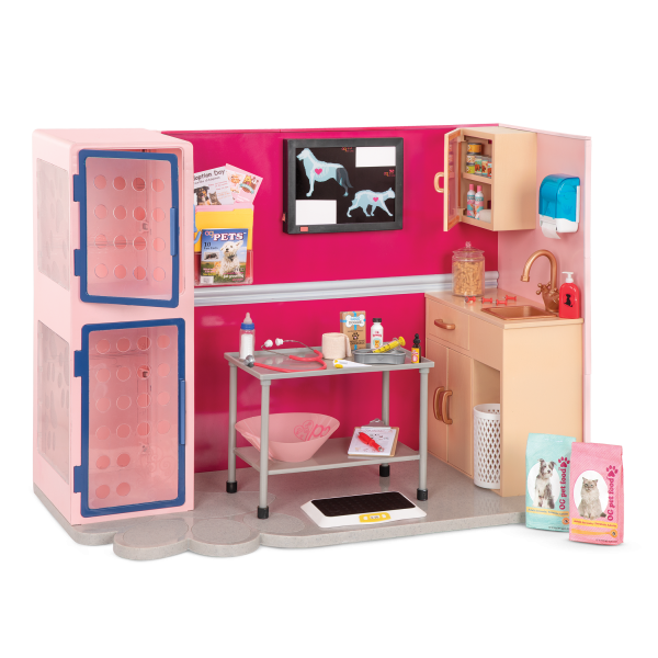 Our Generation Healthy Paws Vet Clinic Playset in Pink 18-inch Dolls