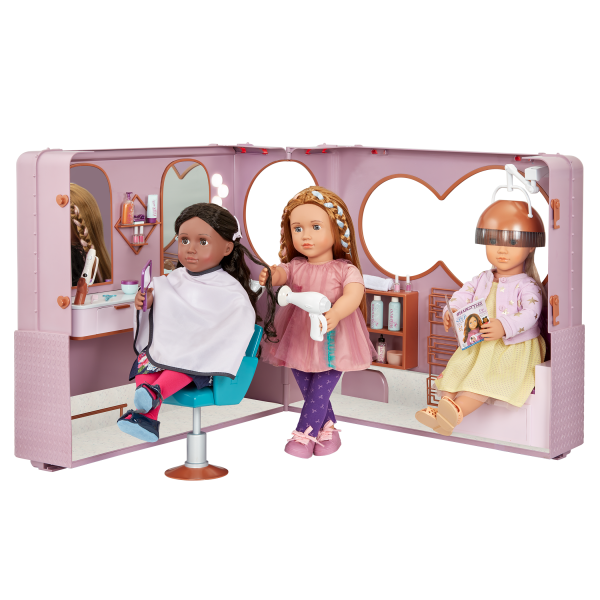 Our Generation Salon on Wheels Hair Styling Playset for 18-inch Dolls