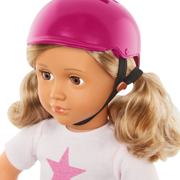 Our Generation Posable 18-inch Skateboarder Doll Ollie Blonde Hair & Brown Eyes