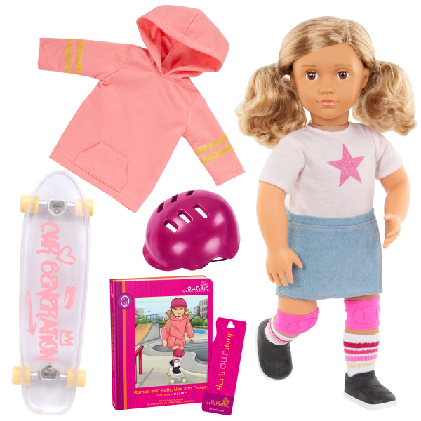 Our Generation Posable 18-inch Skateboarder Doll Ollie