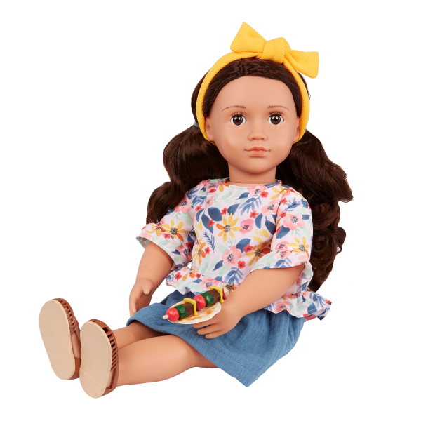 Our Generation Posable 18-inch Doll Rayna Bendable Arms & Legs